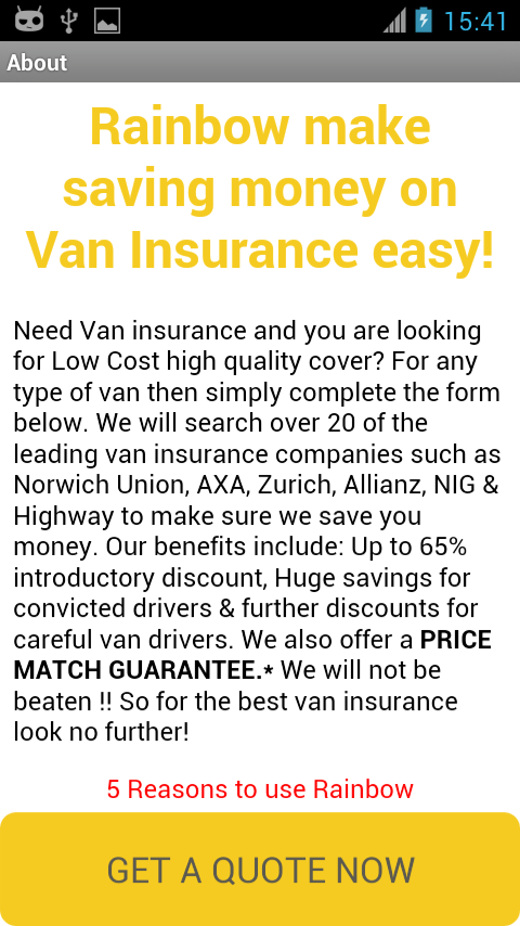 Van Insurance UK- screenshot