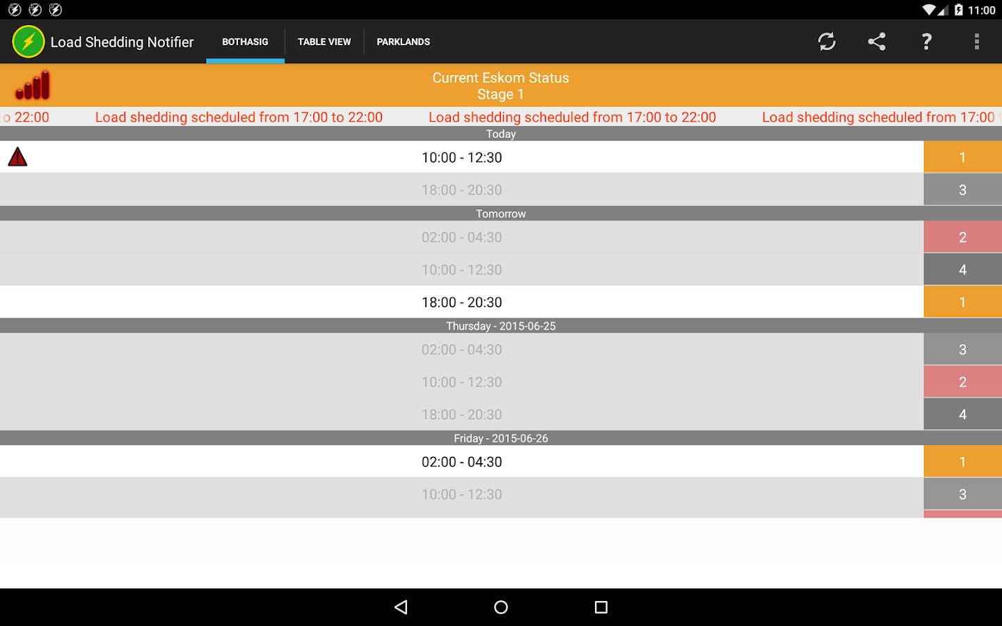 Load Shedding Schedule Eskom Wallpaper: Android Apps On Google Play