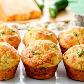 Irish Soda Bread Muffins with Cheddar and Jalapenos.
