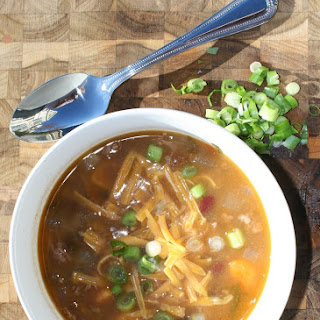 Taco Soup with Sweet Potatoes.