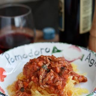 Spaghetti Squash with Turkey Bolognese.