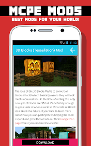 BLOCK MODS FOR MCPE screenshot 4