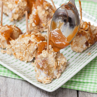 Granola Crusted Apple Nuggets with Caramel