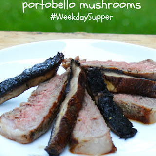 Grilled Ribeye with Portobello Mushrooms