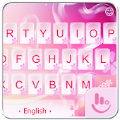Pink Love Heart Keyboard Theme