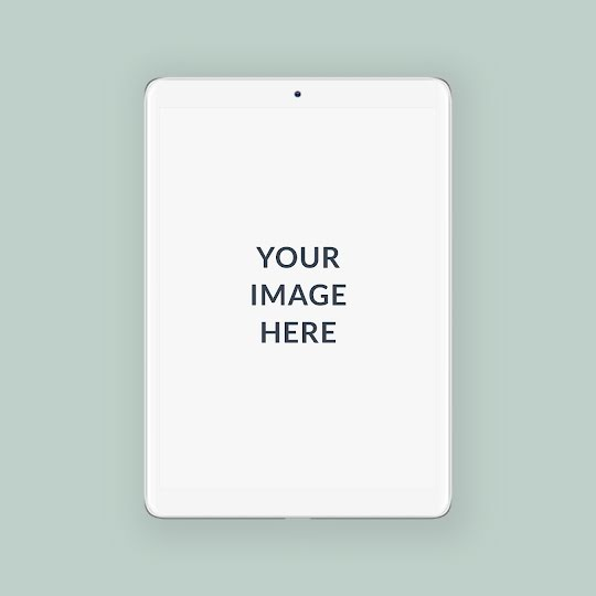 Square Tablet Mockup - Instagram Post Template