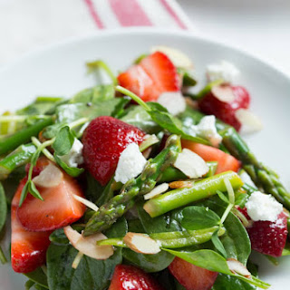 Strawberry, Spinach and Asparagus Salad.