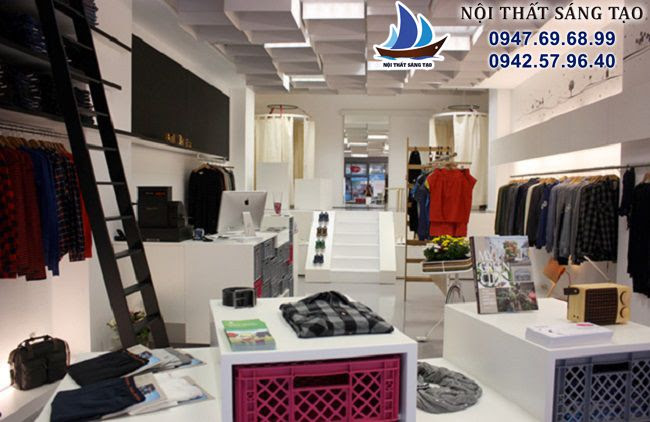 thiết kế cửa hàng nhỏ phong cách tinh tế ketnoikhonggian.com