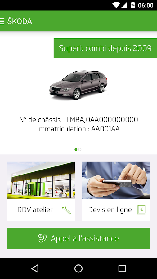 ŠKODA Service- screenshot