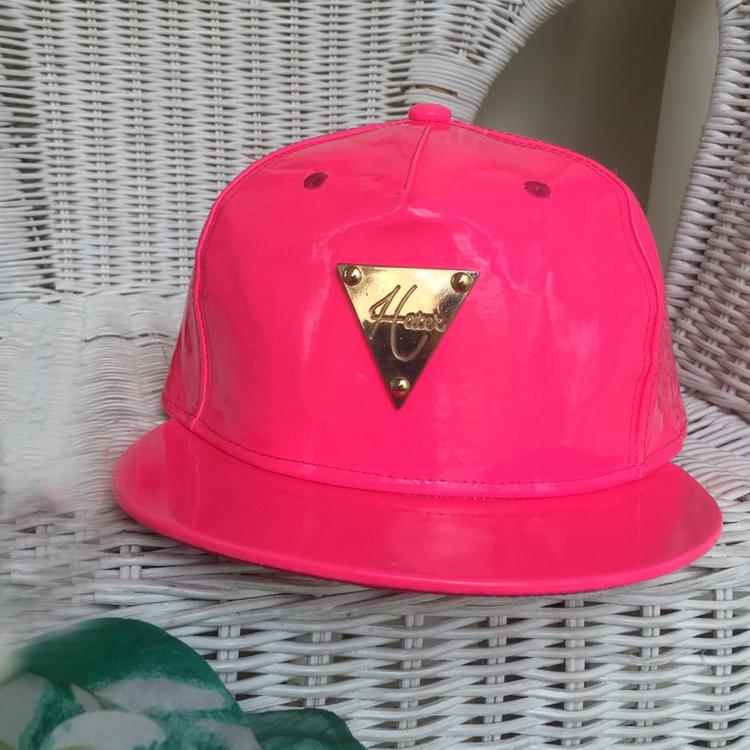 Fluorescent Pink Snapback by Le Tea Boutique
