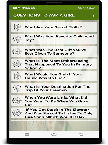 QUESTIONS TO ASK A GIRL App Report on Mobile Action - App