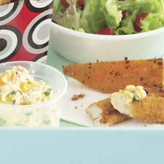 Crunchy Chicken with Sour Cream Dip.