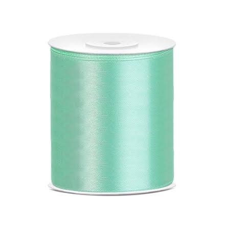 Satinband - Mint 100 mm