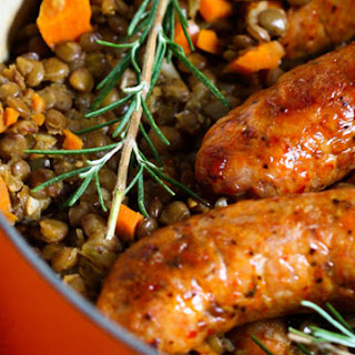 Lentils and Spicy Sausages.