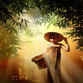 Village Little Girl by Harris Rinaldi - Digital Art People