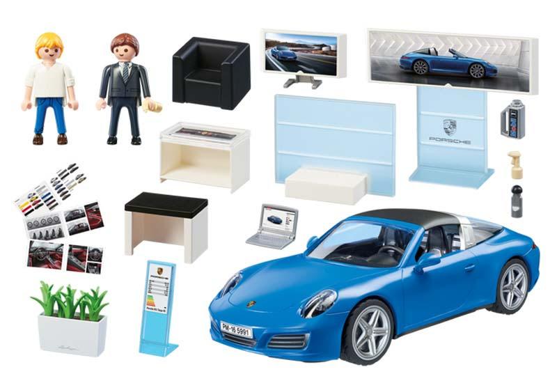 Contenido real de Playmobil® 5991 Porsche 911 Targa 4S
