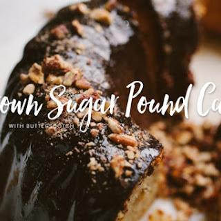 Brown Sugar Pound Cake with Butterscotch Glaze.