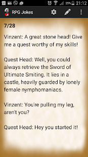 RPG Jokes- screenshot thumbnail