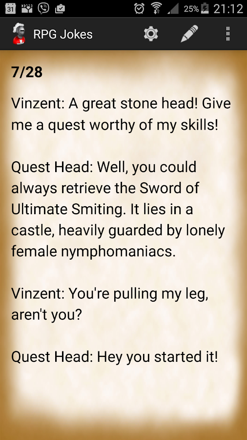 RPG Jokes- screenshot
