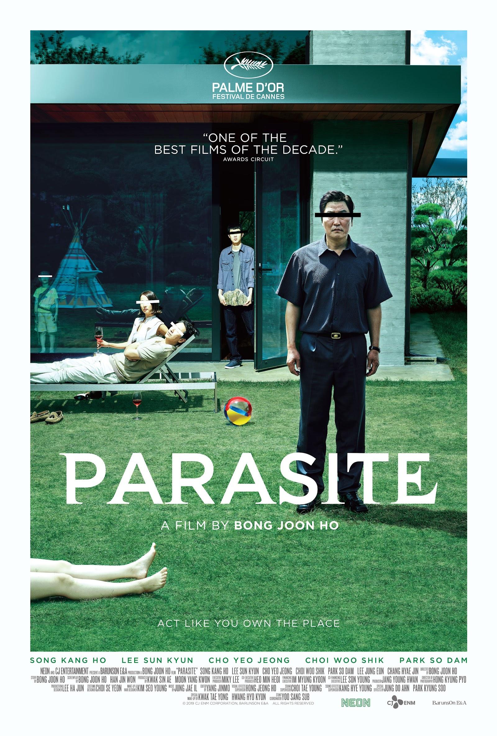 parasite oscars 2020 award