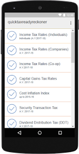 Quick Tax Ready Reckoner- screenshot thumbnail