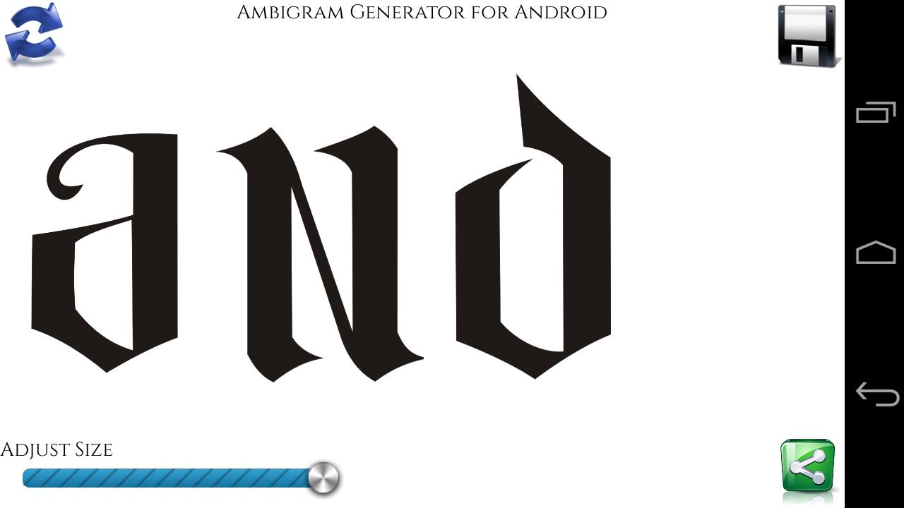 Ambigram generator screenshot