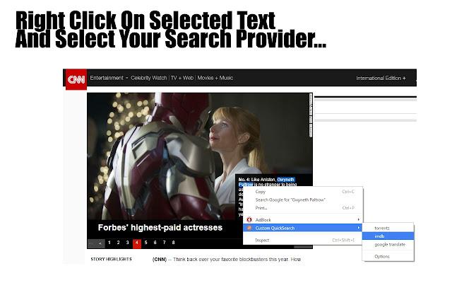 Custom QuickSearch