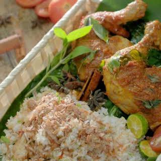 Indo-Style Braised Grilled Chicken Leg.