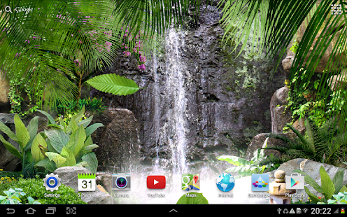 3d Fireflies Live Wallpaper 3d Waterfall Live Wallpaper Android Apps On Google Play