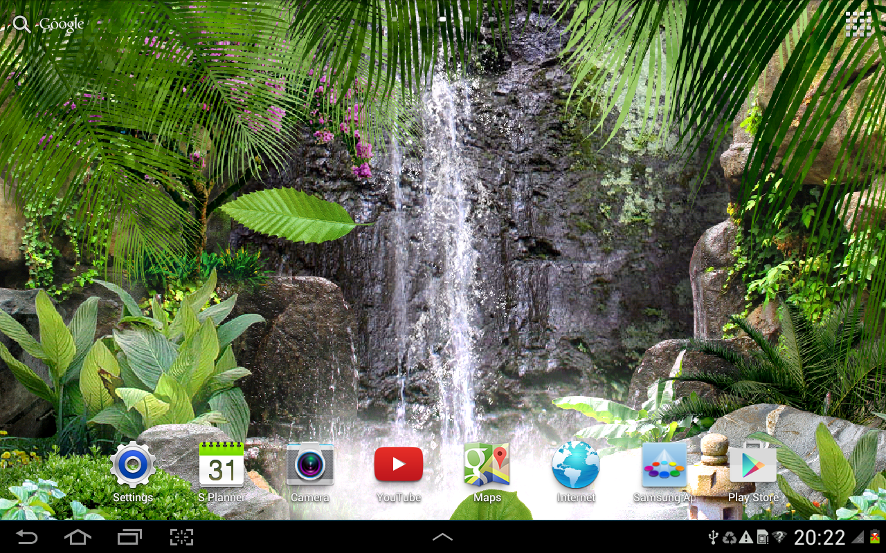 3d waterfall live wallpaper android apps on google play
