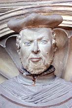 Photo: Fürstbischof Johann Georg Zobel v. Giebelstadt. Detail aus seinem Grabmal in der St.-Michaels-Kirche zu Bamberg.