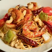 Kung Pao Shrimp Spaghetti (Cashew)