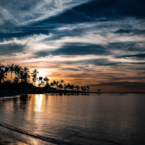 Dominican Sunset by Heather Campbell - Landscapes Sunsets & Sunrises ( vacation, nature, sunset, dominican republic, beach, travel, landscape,  )