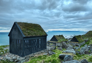 Photo: Where They Dry the Fish (Ósvör in Bolungarvík) - Iceland  While in the northwest fjords, I came across these little huts with intermittent slats. This is where the fisherman hang the fish to dry in the incessant sea-winds that blow up the coast. Pretty cool, eh?  from the blog www.stuckincustoms.com