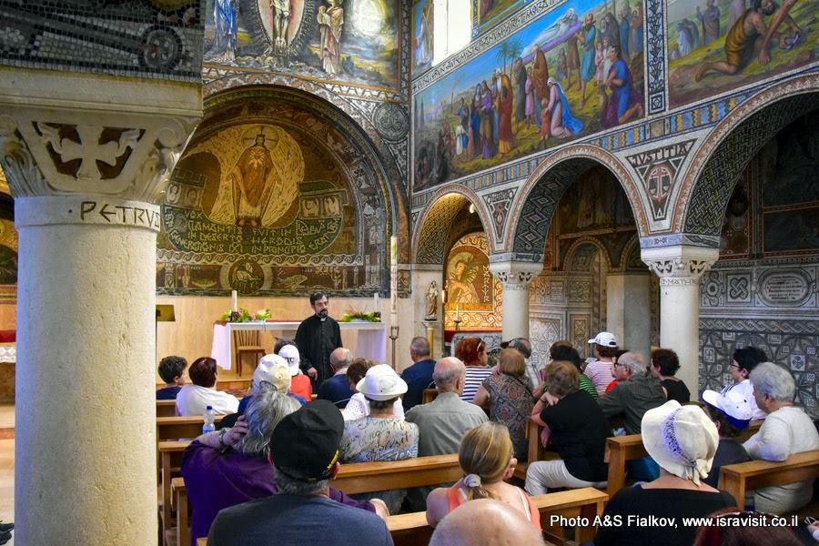 Экскурсия в церкови св. первомученика Стефана в монастыре Бейт Джамаль, Израиль.