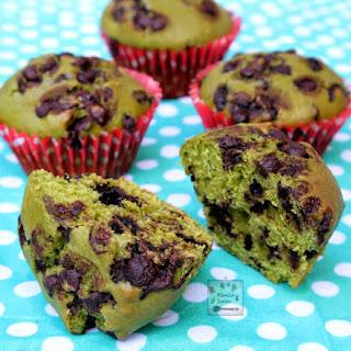 Green Tea Chocolate Muffins.