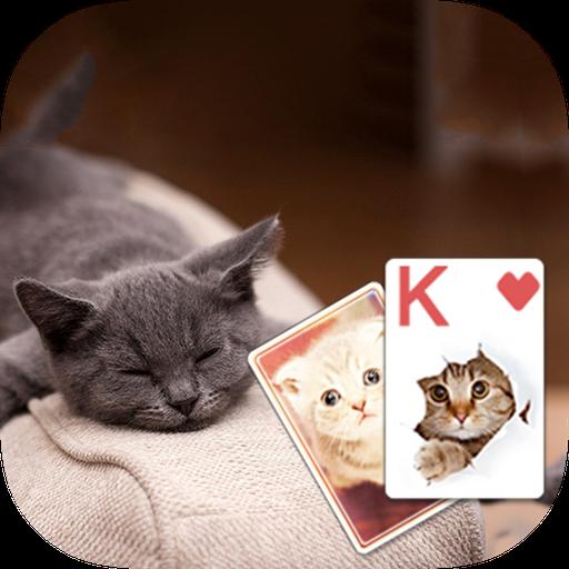 Solitaire Cute Cats Theme 紙牌 App LOGO-硬是要APP