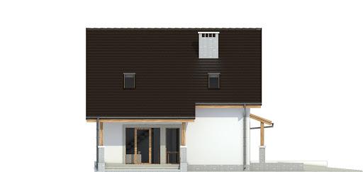 Turkawka II z garażem i wiatą A1 - Elewacja lewa