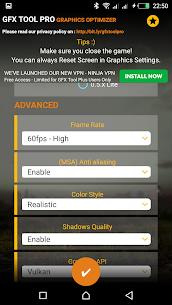 GFX Tool Pro for PU Battlegounds Mod APK – 60FPS 2