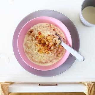 Porridge with Grated Apple.
