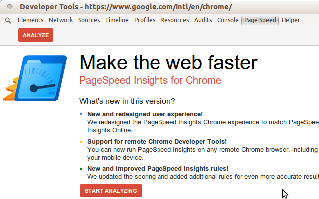 PageSpeed Insights (with PNaCl)