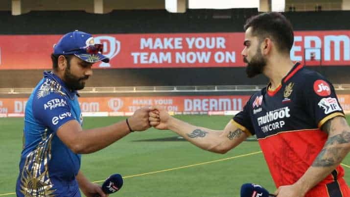 Rohit Sharma and Virat Kohli at the toss in IPL 2020