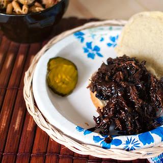 Texas Shredded Barbecued Beef.