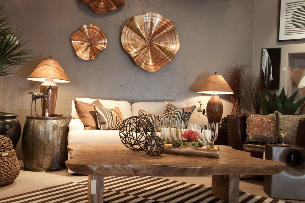 Copper Accents Your Living Room Wall decor ideas