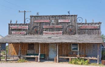 Photo: Some rustic buildings we passed in Scenic, SD.