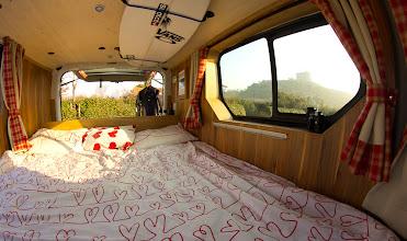 Photo: Le lit du van
