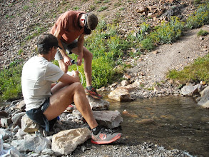 Photo: A much welcomed stop to pump water and relax for a few minutes. About mile 42.
