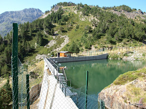 Photo: Presa al riu de Tristaina per al servei de l'estació d'esquí d'Arcalís a la Pleta del Bruig