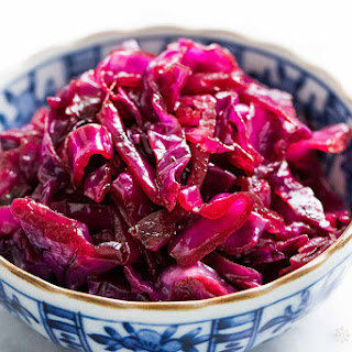 Sweet and Sour German Red Cabbage.