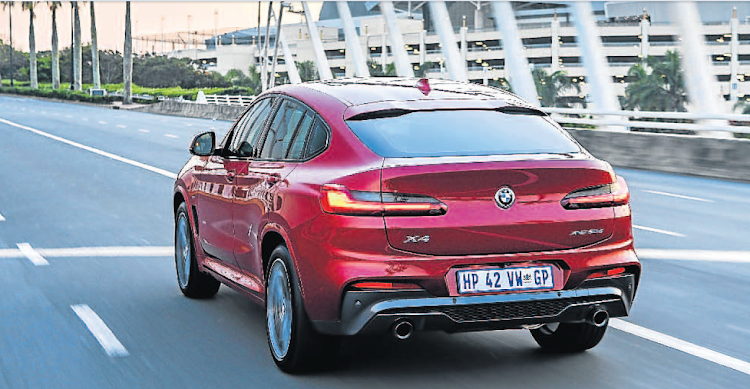 The X4's rear has a more exuberant design with its coupe-style roof line. Picture: SUPPLIED